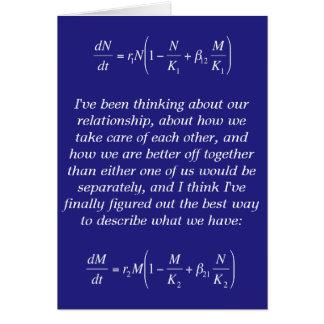 tarjeta romántica nerdy divertida de la relación