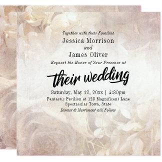 Tarjeta Romántico, boda el | intrépido floral de la