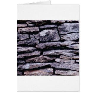 Tarjeta rompecabezas de la roca