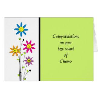 Tarjeta Ronda del último de la Chemo-Enhorabuena