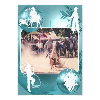 Tarjeta Roping 2 del día de fiesta de la vaquera Invitación 12,7 X 17,8 Cm