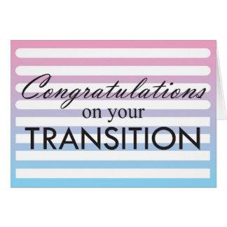 Tarjeta Rosa de la transición al azul