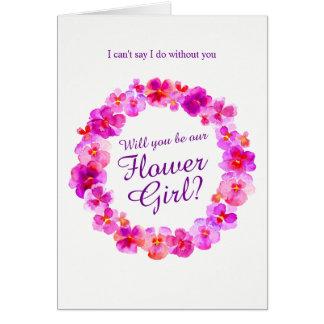 Tarjeta ¿Rosa del pensamiento del boda usted será mi
