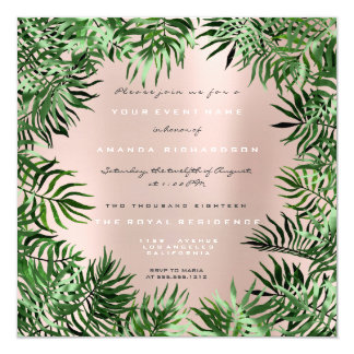 Tarjeta Rosa metalizado en colores pastel del marco de