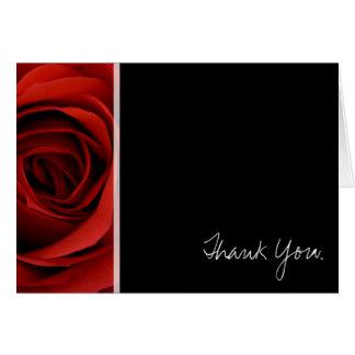 Tarjeta Rosa rojo - gracias