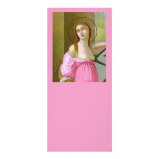 Tarjeta rosada #1 del estante del St. Agatha (M