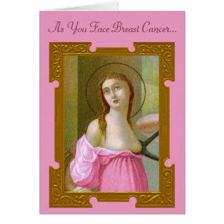 Tarjeta rosada #2 del estímulo del St. Agatha (M