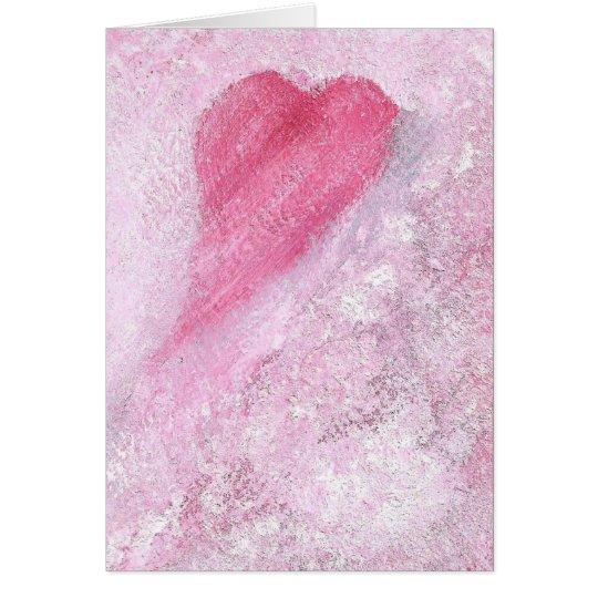 Tarjeta rosada C30 del corazón