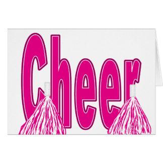 Tarjeta rosada de la alegría