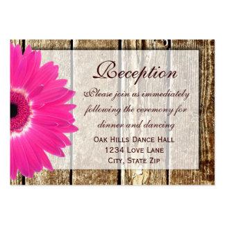 Tarjeta rosada de la dirección de la recepción tarjetas de visita grandes