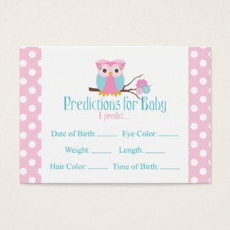 Tarjeta rosada de la fiesta de bienvenida al bebé