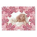 Tarjeta rosada de la foto de la frontera de la comunicado personal