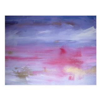 Tarjeta rosada de la nube
