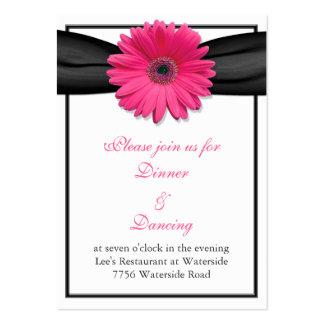Tarjeta rosada de la recepción de la cinta del tarjetas de visita grandes