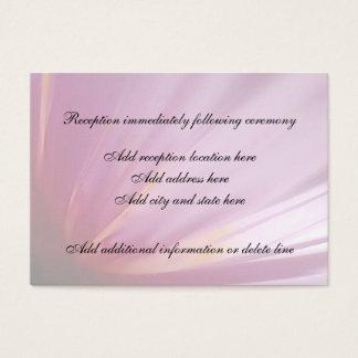 Tarjeta rosada de la recepción del pétalo de la