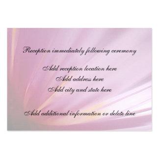 Tarjeta rosada de la recepción del pétalo de la tarjetas de visita grandes