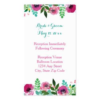 Tarjeta rosada de la recepción del trullo de las tarjetas de visita