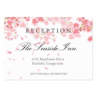 Tarjeta rosada de la recepción nupcial de las tarjetas de visita grandes