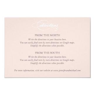 Tarjeta rosada de las direcciones del boda del invitación 8,9 x 12,7 cm