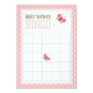 Tarjeta rosada del bingo de la fiesta de invitación 12,7 x 17,8 cm