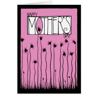 Tarjeta rosada del día de madre