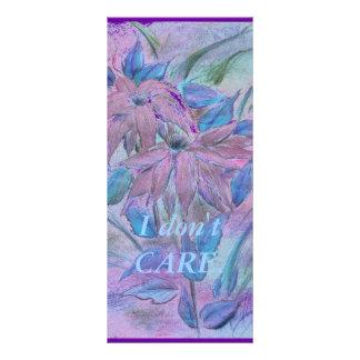 Tarjeta rosada del estante de las flores lonas publicitarias