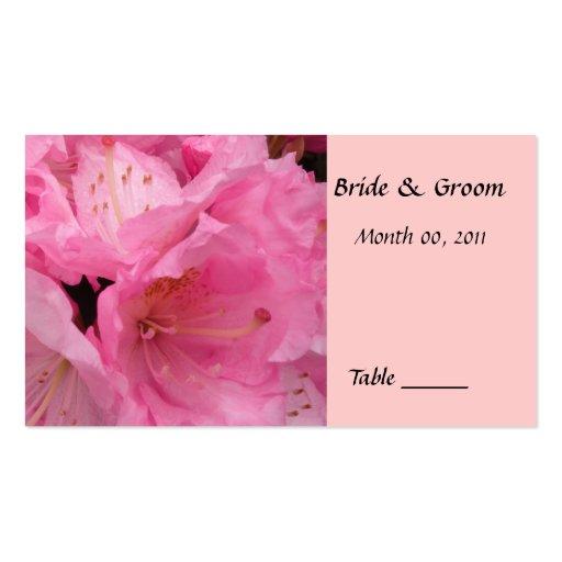 Tarjeta rosada del lugar de la tabla del flor tarjeta de negocio