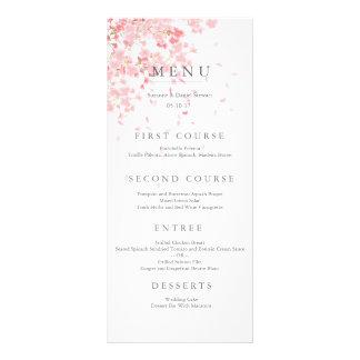 Tarjeta rosada del menú del boda del flor diseños de tarjetas publicitarias