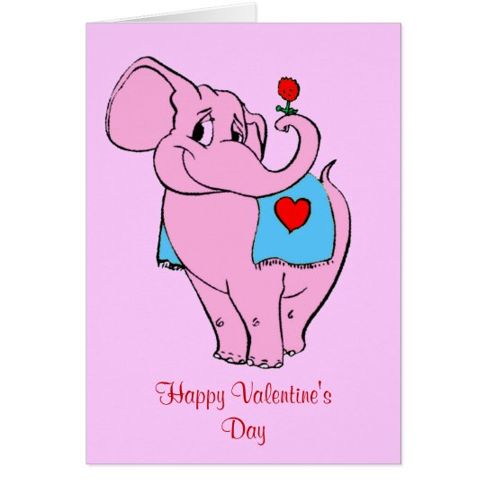 Tarjeta rosada dulce de las tarjetas del día de