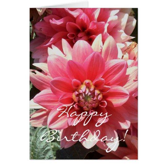 Tarjeta rosada dulce del feliz cumpleaños de
