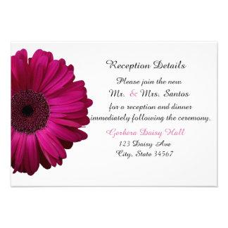 Tarjeta rosada elegante de la recepción nupcial de invitación personalizada