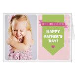 Tarjeta rosada linda del día de padre de la foto d