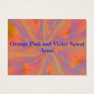 Tarjeta rosada y violeta anaranjada de los brazos