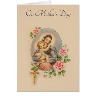 Tarjeta Rosario de los rosas de Jesús Maria del día de