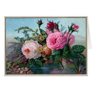 Tarjeta Rosas del vintage