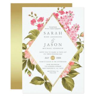 Tarjeta Rosas elegantes de la acuarela y boda floral del
