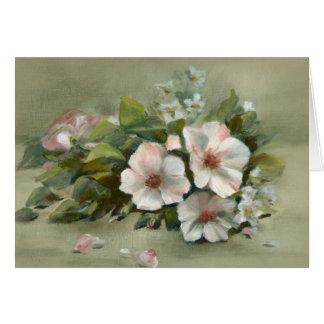 Tarjeta Rosas elegantes lamentables del estilo