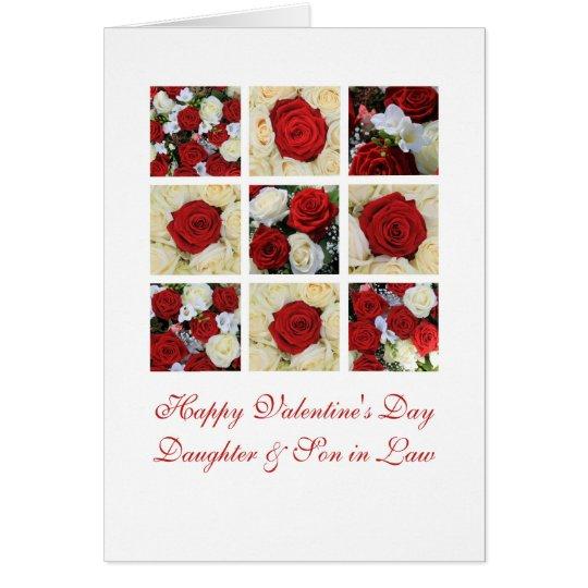 Tarjeta Rosas felices del el día de San Valentín de la
