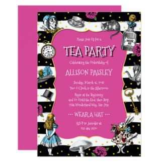 Tarjeta Rosas fuertes de la fiesta del té del país de las