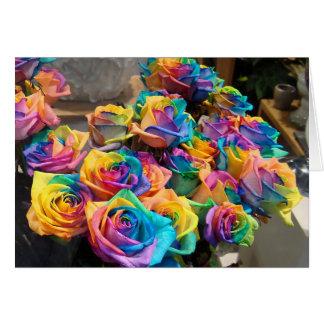 Tarjeta Rosas Notecard del arco iris