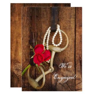 Tarjeta Rosas rojos y fiesta de compromiso del país del