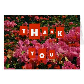 Tarjeta Rosas y gracias