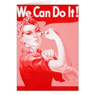 """Tarjeta Rosie rosado el remachador """"podemos hacerlo!"""""""