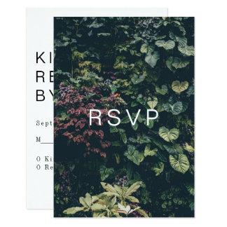 Tarjeta RSVP botánico moderno: II