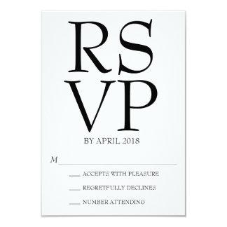 Tarjeta RSVP moderno
