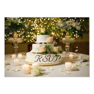 Tarjeta RSVP--Pastel de bodas