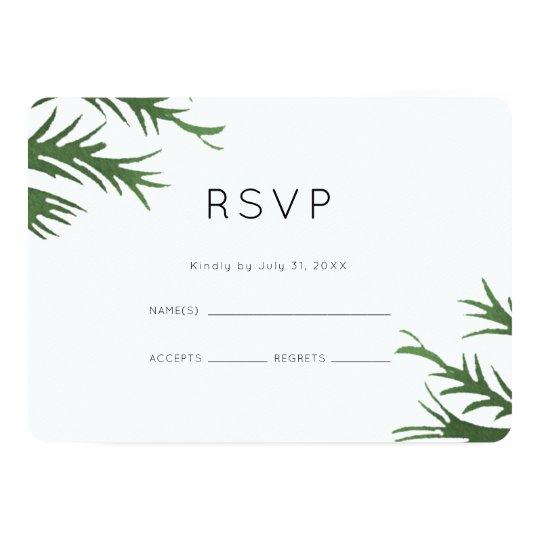 Tarjeta RSVP que se casa botánico