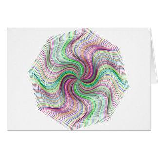 Tarjeta Rueda colorida del remolino de la prisma del arco