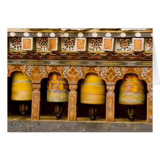Tarjeta Ruedas de rezo, rueda de Mani en Trongsa Dzong,