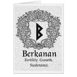Tarjeta Runa /Fertility/versión blanca de Berkanan
